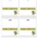 Printable Colored Bells Placecards