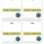 Printable Colored Candy Placecards