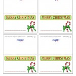 Printable Colored Candycane Placecards