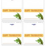 Printable Colored Corn Placecards