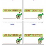 Printable Colored Elf Placecards