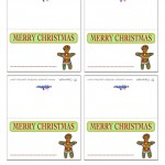 Printable Colored Gingerbread Placecards