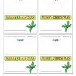 Printable Colored Holly Placecards
