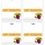 Printable Colored Cornucopia Placecards
