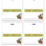 Printable Colored House 1 Placecards