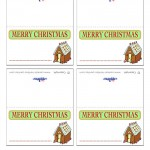Printable Colored House 2 Placecards