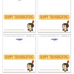 Printable Colored Indian Face 2 Placecards