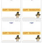 Printable Colored Pilgrim Face 1 Placecards