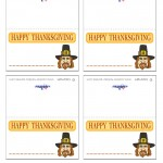 Printable Colored Pilgrim Face 2 Placecards