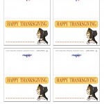 Printable Colored Pilgrim Face 3 Placecards