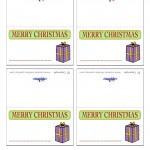 Printable Colored Present Placecards