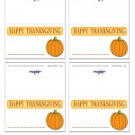 Printable Colored Pumpkin 1 Placecards