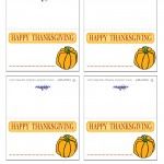 Printable Colored Pumpkin 2 Placecards