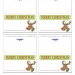 Printable Colored Reindeer Placecards