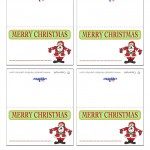 Printable Colored Santa 1 Placecards
