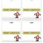 Printable Colored Santa 1 Placecards