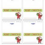 Printable Colored Santa 2 Placecards