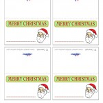 Printable Colored Santa Face Placecards