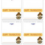 Printable Colored Scarecrow Placecards