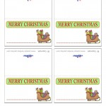 Printable Colored Sled Placecards
