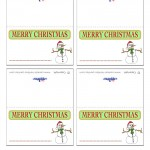 Printable Colored Snowman Placecards