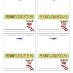Printable Colored Stocking Placecards