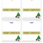 Printable Colored Tree Placecards