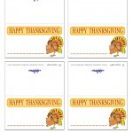 Printable Colored Turkey 1 Placecards