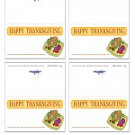 Printable Colored Turkey 2 Placecards