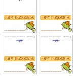 Printable Colored Wagon Placecards