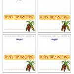 Printable Colored Wild Corn Placecards
