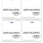 Printable Bat Placecards