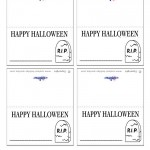 Printable Gravestone Placecards