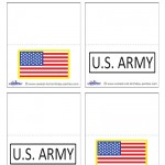 Printable US Army Placecards