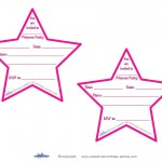 Printable Pointy Star Invitations