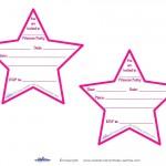 Printable Pointy Star Invitations