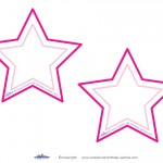 Blank Printable Pointy Star Invitations