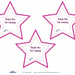 Printable Pointy Star Thank You Cards