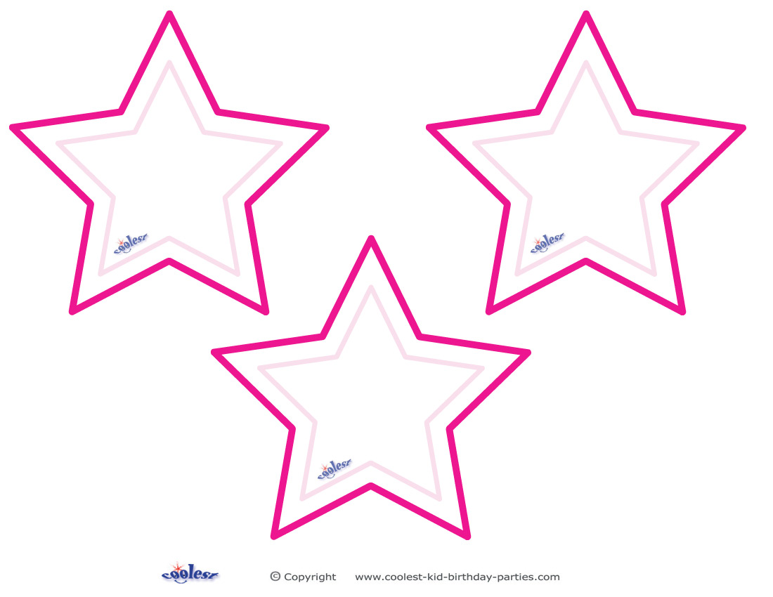 Blank Printable Pointy Stars Coolest Free Printables Picture