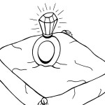 Printable Ring on Pillow Coloring Page