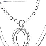 Printable Necklace Coloring Page