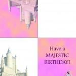 Printable Princess Foldable Greeting Card 1