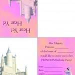 Printable Princess Foldable Invitation 1