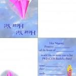 Printable Princess Foldable Invitation 2