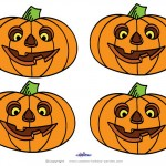 Small Printable Colored Pumpkin 1