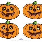 Small Printable Colored Pumpkin 1