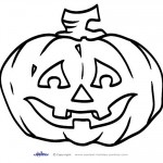 Large Printable B&W Pumpkin 2