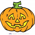 Large Printable Colored Pumpkin 2