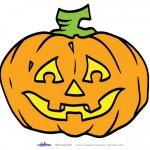 Large Printable Colored Pumpkin 2