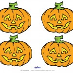 Small Printable Colored Pumpkin 2